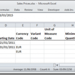 Dynamics NAV Excel Import